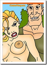 Lieutenant Helga with enormous boobies getting fucked like a bitch by Commander Lyle