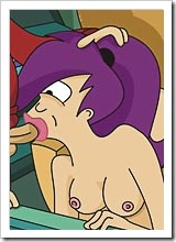Experienced Turanga Leela gets assplugged hard by Fry and gets a facial blast 