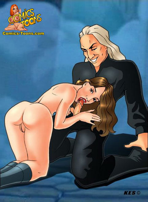 Comic Toons Hermoine Blowjob