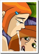 Kim Possible licking Gill and getting loaded with hot spermshots