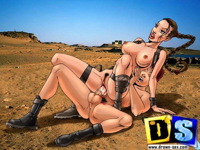 Lara Croft Tomb Raider sex cartoon pics