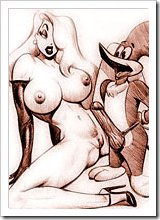 Jessica Rabbit getting penetrated by Dave the Barbarian's dick