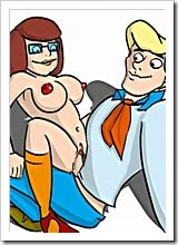 Dizzy Velma Dinkley was fucked in two holes by Scooby Dum's dick