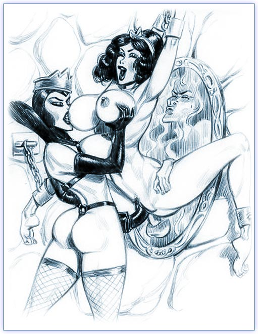 evil queen snow white six nasty sketches gt gt hentai and cartoon porn