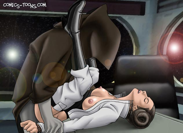 A_new_hope famous_comics palpatine princess_leia_organa star_wars.