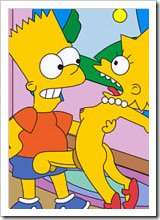 Maggie gets pleasure and gets played with by Bart Simpson