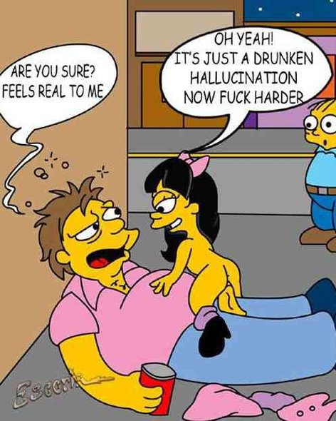 The Simpsons nasty cartoon pics