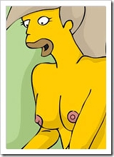 Flanders getting naked and banged extremely on her great ass by Ralph Wiggum's rock dick