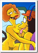 Beautiful Sherri is slammed in her two holes by perfect Bart Simpson and gets slit drenched
