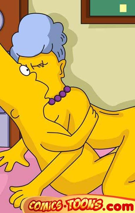 Порно мультик симпсоны скинэр