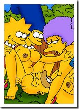 Scared Maggie Simpson with double d the twins getting punished and taking cum facial after her workout