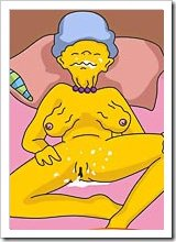 Innocent Marge Simpson licking dick till getting her ass bent over