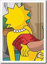 Maggie Simpson bombed by Homer Simpson's dong