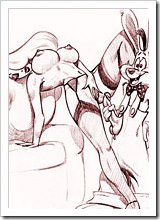 Lena Hyena getting screwed by Roger Rabbit's dick