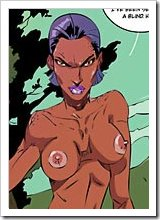 Ororo Monroe gets a foreplay in the room